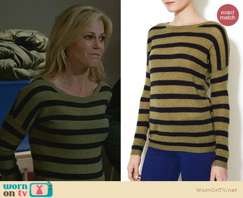 Fashion of Modern Family: Line Willow Caviar Bloomsbury Stripe Sweater worn by Julie Bowen