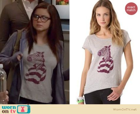 Modern Family Fashion: Marc by Marc Jacobs Mr Zebra Tee worn by Ariel Winter