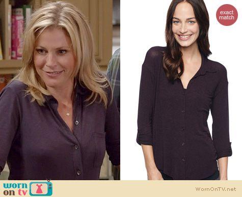 Modern Family Fashion: Splendid Drapey Lux Shirt worn by Julie Bowen