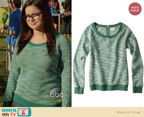 Modern Family Fashion: Mossimo Textured Sweatshirt from Target worn by Ariel Winter