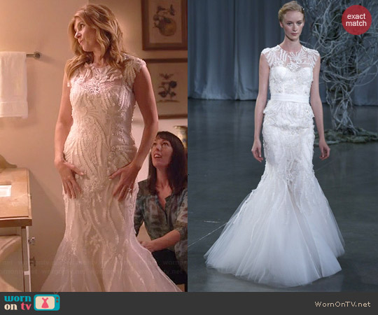 Monique Lhuillier Fall 2013 Gown worn by Connie Britton on Nashville