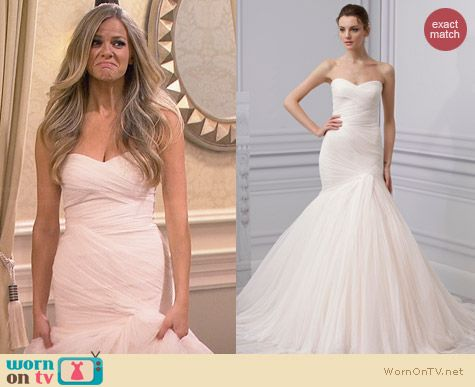Monique Lhuillier Spring 2013 Wedding Gown worn by Brooklyn Decker on FWBL