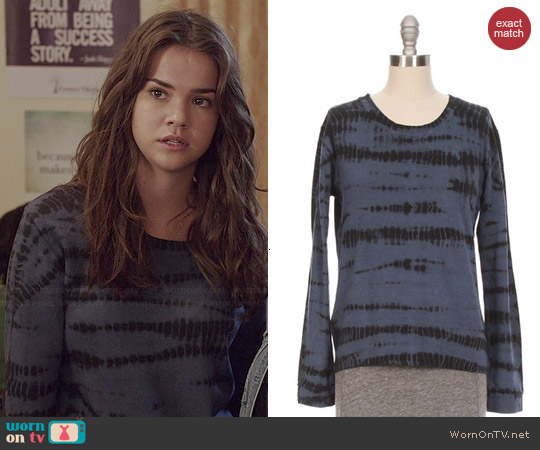 Monrow Tiger Tie Dye Sweatshirt worn by Maia Mitchell on The Fosters