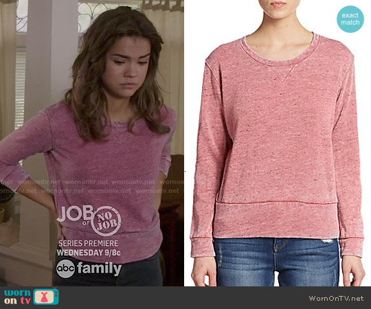 Monrow Vintage Crewneck Sweatshirt worn by Maia Mitchell on The Fosters