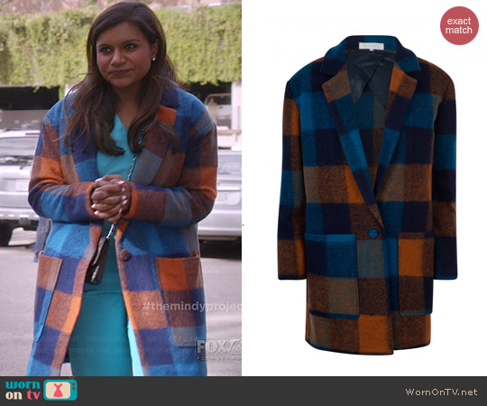 Moods of Norway Tone Coat worn by Mindy Kaling on The Mindy Project