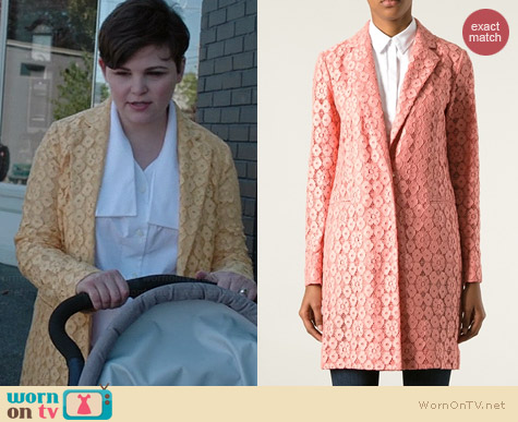 Moschino Cheap & Chic  Floral Lace Coat worn by Ginnifer Goodwin on OUAT