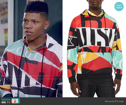 Moschino Large Logo Print Hoodie worn by Bryshere Y. Gray on Empire