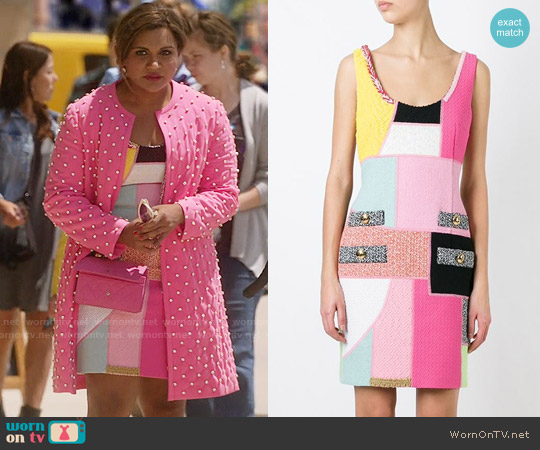 Moschino Panelled Dress worn by Mindy Kaling on The Mindy Project