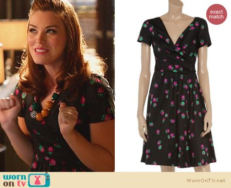 Moschino C&C Strawberry Print Dress worn by Kaitlyn Black on Hart of Dixie