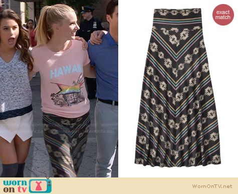 Mossimo Foldover Maxi Skirt  worn by Heather Morris on Glee
