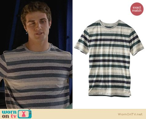 Mossimo Supply Co Striped Crew Neck Tee worn by Beau Mirchoff on Awkward