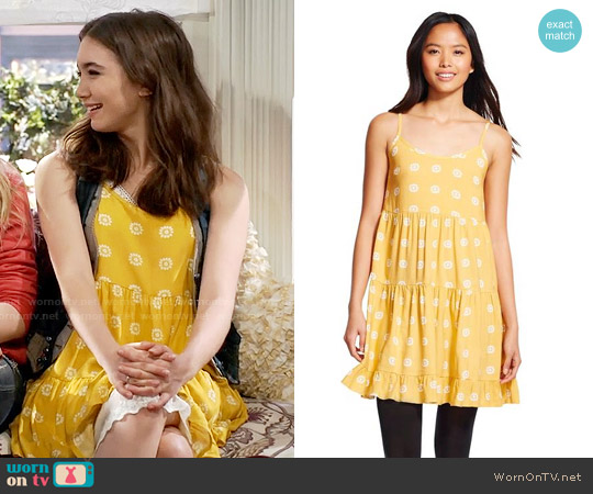 Mossimo Supply Co Tiered Babydoll Dress worn by Rowan Blanchard on Girl Meets World