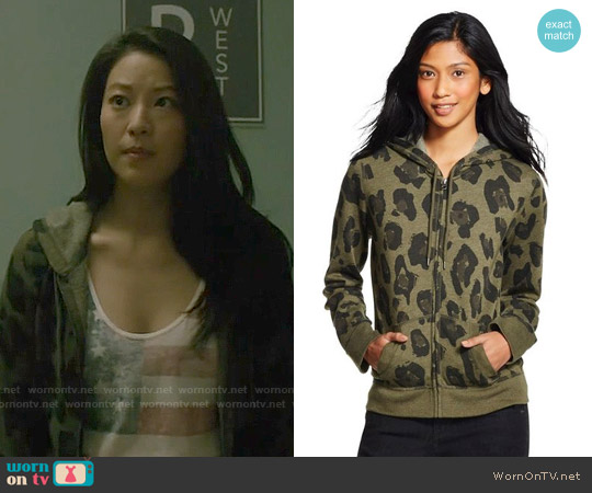 Mossimo Supply Co Lightweight Zip Up Sweatshirt worn by Kira on Teen Wolf