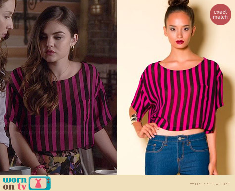 Motel Tilly Crop Top worn by Lucy Hale on PLL