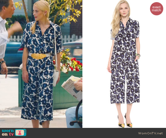 Mother of Pearl Floral Jumpsuit worn by Lemon Breeland on Hart of Dixie