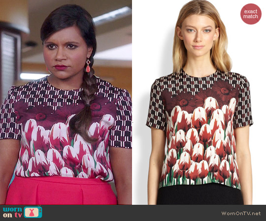 Mother of Pearl Juno Top worn by Mindy Kaling on The Mindy Project