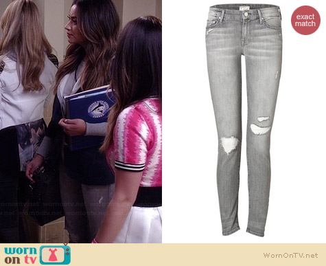 Mother The Looker Jeans in Holy Smokes worn by Shay Mitchell on PLL