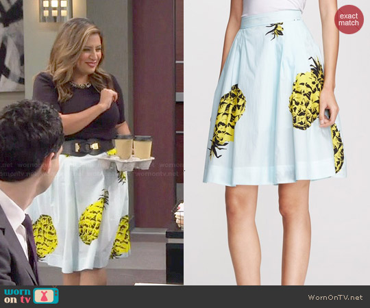 MSGM Pineapple Print Skirt worn by Cristela Alonzo on Cristela