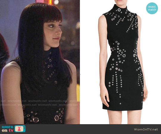 Mulger Wool Dress with Eyelets worn by Aubrey Peeples on Nashville