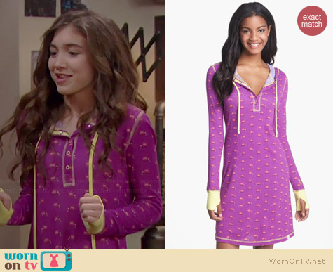 Munki Munki Hooded Henley Sleepshirt worn by Rowan Blanchard on Girl Meets World