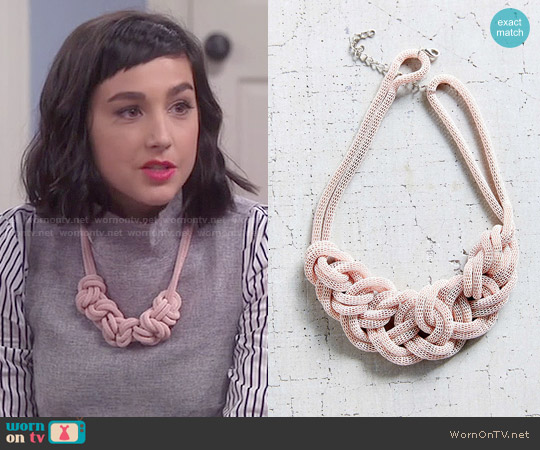 Museum Walls Knotted Necklace worn by  Molly Ephraim on Last Man Standing