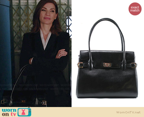 Muska Milano Lizard Large Vanna Bag worn by Julianna Margulies on The Good Wife