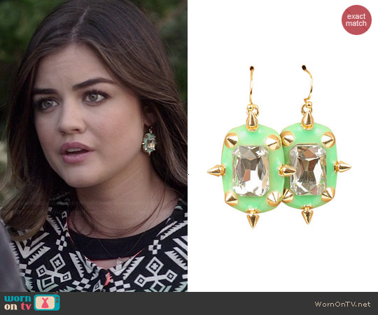 My Jewel Candy Sugar & Spiked Earrings in Mint worn by Lucy Hale on PLL