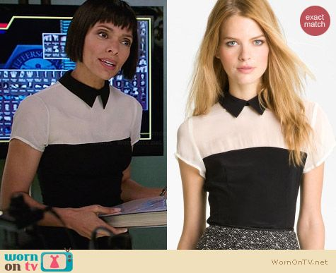 Nanette Lepore Inheritance Silk Blouse worn by Tamara Taylor on Bones