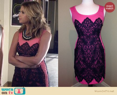 Nanette Lepore Kissing Booth Dress worn by Hanna Marin on PLL