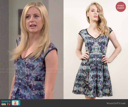 Nanette Lepore Love Crime Dress in Teal worn by Justine Lupe on Cristela