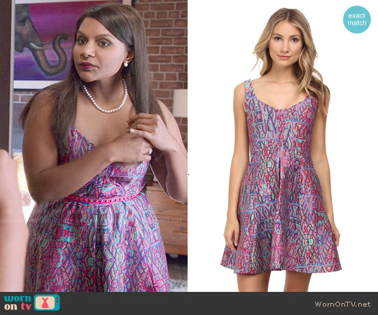Nanette Lepore Machu Picchu Dress worn by Mindy Kaling on The Mindy Project