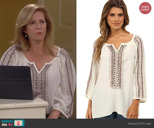Nanette Lepore Vagabond Top worn by Nancy Travis on Last Man Standing