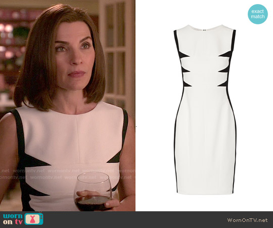 Narciso Rodriguez Paneled Stretch-crepe Dress worn by Julianna Margulies on The Good Wife