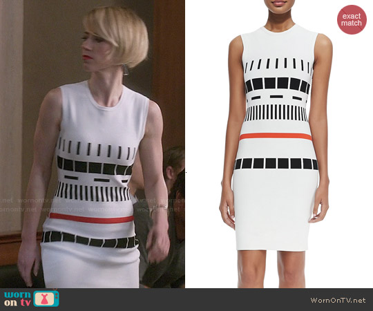 Narciso Rodriguez Reversible Graphic Dress worn by Karine Vanasse on Revenge