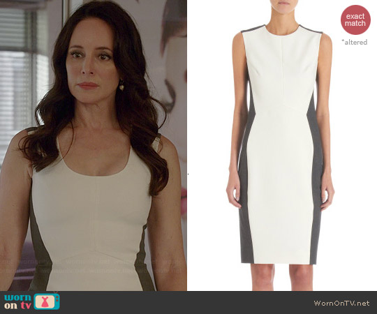 Narciso Rodriguez Sleeveless Contrast Sides Shift Dress worn by Madeleine Stowe on Revenge