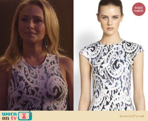 Nashville Fashion: Alexander McQueen Spray Lace Print Dress worn by Hayden Panettiere