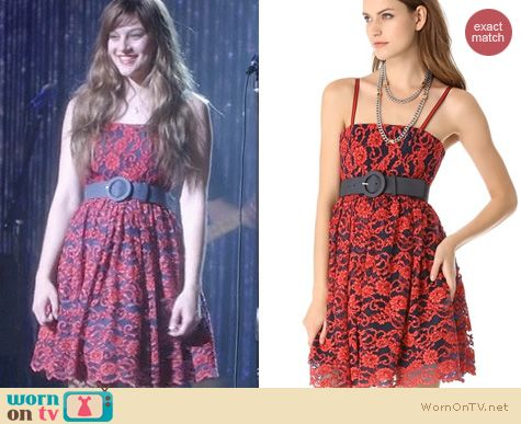 Nashville Fashion: Alice + Olivia Sia Poof Dress worn by Aubrey Peeples
