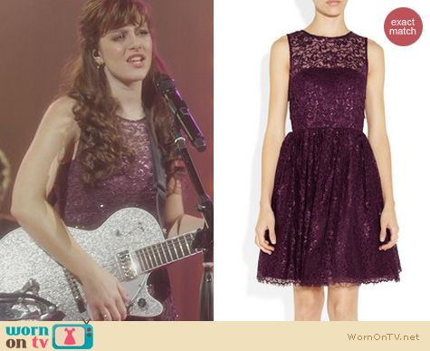 Nashville Fashion: Alice + Olivia Ophelia Dress worn by Aubrey Peeples