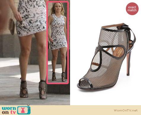 Nashville Fashion: Aquazzura Mesh Cutout Heels worn by Hayden Panettiere