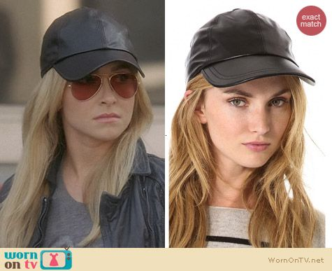 Nashville Fashion: Bop Basics Leather Baseball Hat worn by Hayden Panettiere