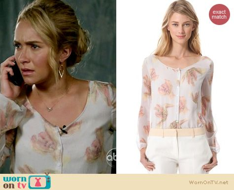 Nashville fashion: Cacharel floral blouse worn by Hayden Panettiere