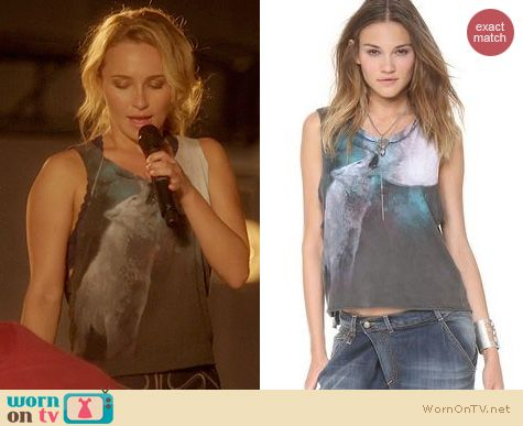 Nashville Fashion: Chaser Howl at the Moon tank worn by Hayden Panettiere