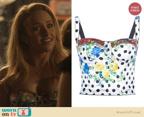 Nashville Fashion: Dolce & Gabbana white corset top worn by Hayden Panettiere