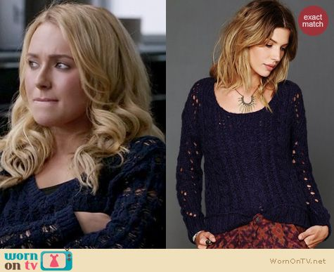 Nashville Fashion: Free People Fluff sweater worn by Hayden Panettiere