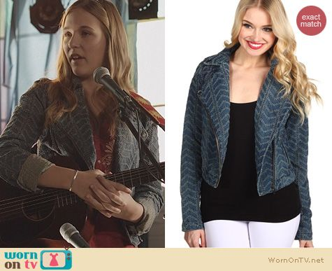 Nashville Fashion: Free People Punched Denim Jacket worn by Lennon Stella