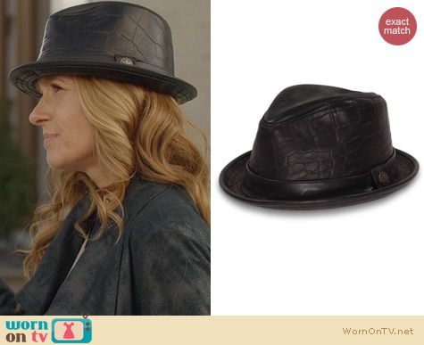 Fashion of Nashville: Goorin Bros Belksy Leather Fedora worn by Rayna Jaymes