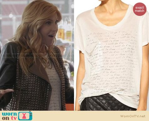 Nashville Fashion: Haute Hippie I Will Be Free Tee worn by Rayna Jaymes