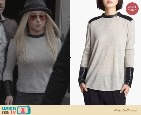Fashion of Nashville: Helmut Lang Leather Trim Top worn by Hayden Panettiere