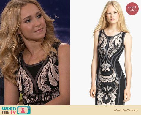 Nashville Fashion: Herve Leger Embroidered dress worn by Hayden Panettiere