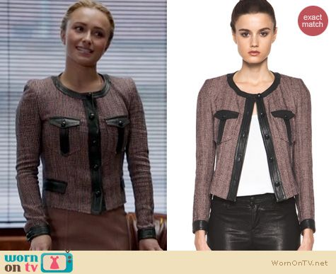 Nashville Fashion: Isabel Marant Kacie jacket worn by Hayden Panettiere